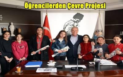 Dinar'lı Öğrencilerden Çevre Projesi
