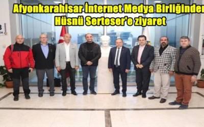 Afyon İnternet Medya Birliği Hüsnü Serteser'i ziyaret etti