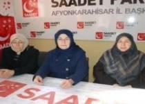 Afyon Saadet partisi kadın kollarından basın toplantısı