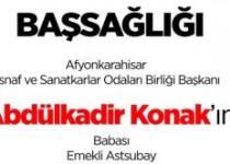 İnternet Medya Birliğinden, Abdülkadir Konak'a Taziye Mesajı !!